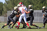 Palos Verdes, CA 09/10/09 - Matt Hezlep (#16). Jordan Moore (Lakewood #21), Kevin Young (#87), Haden Gregory (#42)