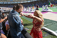 RIO DE JANEIRO, RJ, 13.07.2014 - COPA DO MUNDO - ALEMANHA - ARGENTINA - O jogador espanhol Gerard Pique o filho Milan e a cantora Shakira durante partida entre Alemanha e Argentina jogo valido pela final da Copa do Mundo no Estadio do Maracana no Rio de Janeiro neste domingo, 13. (Foto: William Volcov / Brazil Photo Press).