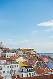 PORTUGAL, Lisbon, View of Alfama district and Church of Santa Engr·cia, taken from Palacio Belmonte