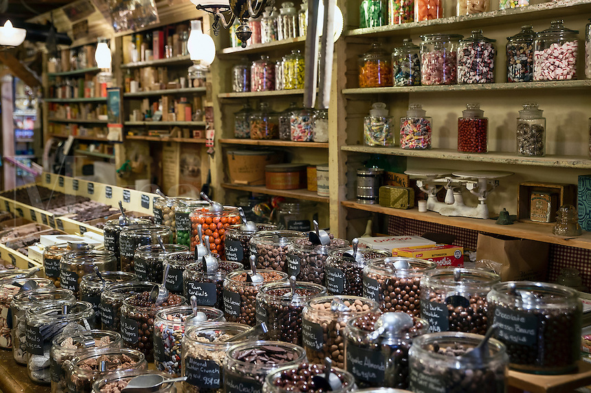 Candy shop at the Vermont Country Store, Weston, Vermont, VT, USA