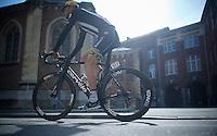 Stephen Cummings (GBR/MTN-Qhubeka) to the start<br /> <br /> 79th Fl&egrave;che Wallonne 2015