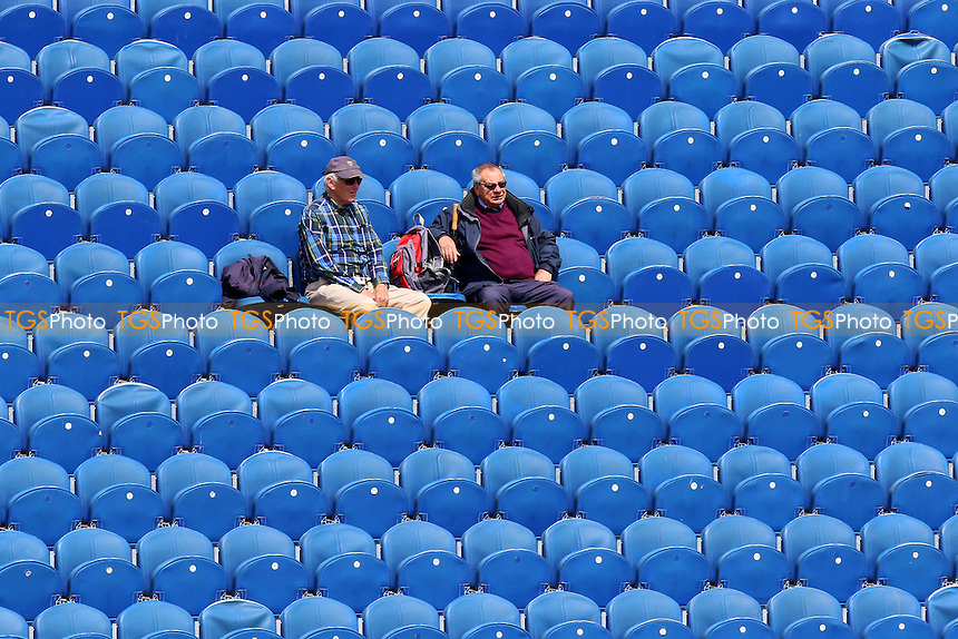 Two spectators look on during Glamorgan CCC vs Essex CCC, Specsavers County Championship Division 2 Cricket at the SSE SWALEC Stadium on 22nd May 2016