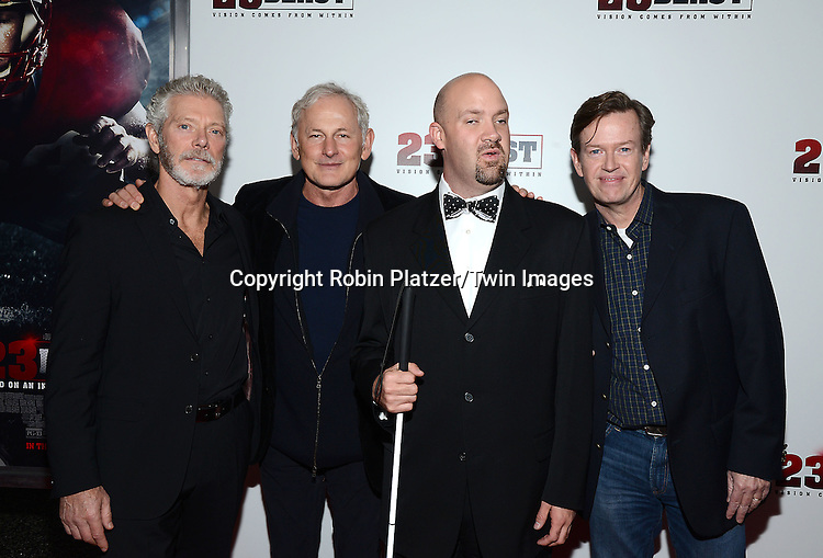 actor Stephen Lang, Victor Garber, Travis Freeman and Dylan Baker  attends the &quot;23 Blast&quot;  Movie Premiere  on October 20, 2014 at The Regal Cinemas E-Walk Theater in New York City. <br /> <br /> photo by Robin Platzer/Twin Images<br />  <br /> phone number 212-935-0770