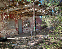 Kobel's Place in Foss Oklahoma on Route 66.  Once a thriving stop for fuel, now abandoned and in ruins.
