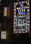 Theatre Marquee unveiling for the Bruce Springsteen Marquee for 'Springsteen on Broadway' at the Walter Kerr Theatre on August 10, 2017 in New York City.