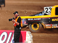 Apr 15, 2011; Surprise, AZ USA; LOORRS photographer Gil Rebilas during round 3 and 4 at Speedworld Off Road Park. Mandatory Credit: Mark J. Rebilas-.