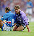 Ally McCoist in action against Sampdoria in the Ibrox International Challenge Trophy in the summer of 1994