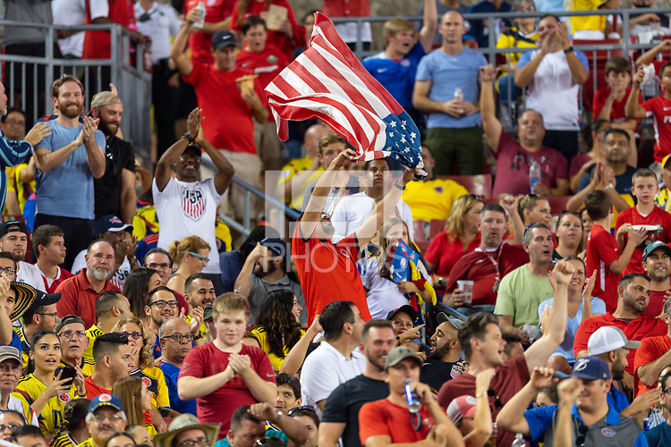 Tampa, FL - Thursday, October 11, 2018: USA fan during a USMNT match against Colombia.  Colombia defeated the USMNT 4-2.