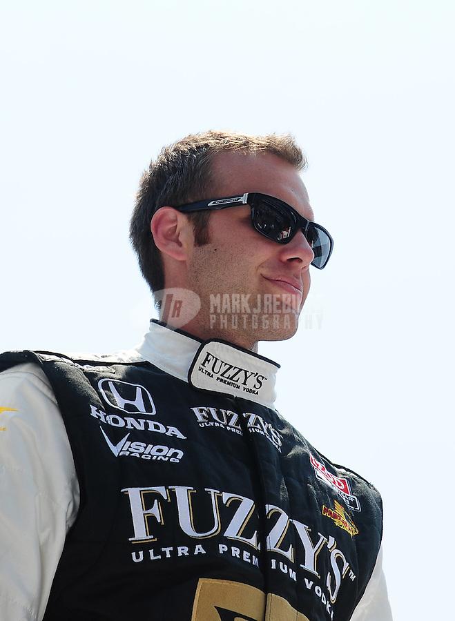 May 30, 2010; Indianapolis, IN, USA; IndyCar Series driver Ed Carpenter (20) during the Indianapolis 500 at the Indianapolis Motor Speedway. Mandatory Credit: Mark J. Rebilas-