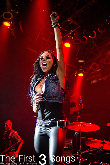 Carla Harvey of The Butcher Babies perform at the House of Blues in Cleveland, Ohio.