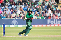 Shakib Al Hasan (Bangladesh) pulls a full delivery to square leg during England vs Bangladesh, ICC World Cup Cricket at Sophia Gardens Cardiff on 8th June 2019
