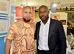 MIAMI, FL - DECEMBER 05: Actor Jimmy Jean-Louis (R) and Mecca Grimo Marcelin attends the NE2P Art Beat Miami Chef Creole Celebrity Brunch at the Little Haiti Cultural Center on Saturday December 05, 2015 in Doral, Florida.  ( Photo by Johnny Louis / jlnphotography.com )