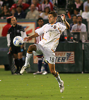 LA Galaxy midfielder Kyle Martino (18). CD Chivas USA defeated the LA Galaxy 3-0 in the Super Classico MLS match at the Home Depot Center in Carson, California, Thursday, August 23, 2007.
