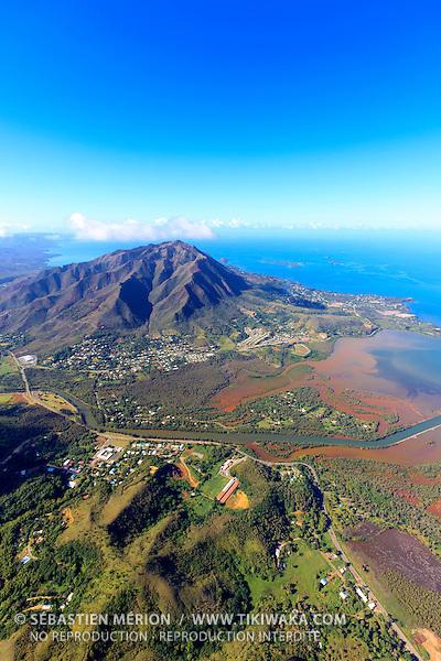 Vue aérienne du quartier de La Coulée, Mont-Dore, Nouvelle-Calédonie