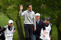 Jason Levermore celebrates his hole in one on the 2nd hole - BMW PGA Golf Championship at Wentworth Golf Course - 23/05/13 - MANDATORY CREDIT: Rob Newell/TGSPHOTO - Self billing applies where appropriate - 0845 094 6026 - contact@tgsphoto.co.uk - NO UNPAID USE