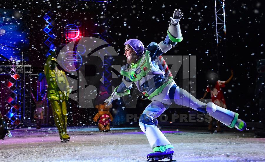 RIO DE JANEIRO, RJ, 09 DE MAIO DE 2013 - DISNEY ON ICE- Espetáculo com personagens da Disney,de patinação no gelo, no maracanãzinho, zona norte do rio de janeiro.FOTO:MARCELO FONSECA/BRAZIL PHOTO PRESS