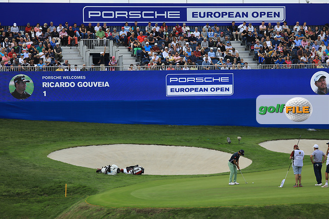 Ricardo Gouveia (POR) during the final round of the Porsche European Open , Green Eagle Golf Club, Hamburg, Germany. 08/09/2019<br /> Picture: Golffile | Phil Inglis<br /> <br /> <br /> All photo usage must carry mandatory copyright credit (© Golffile | Phil Inglis)