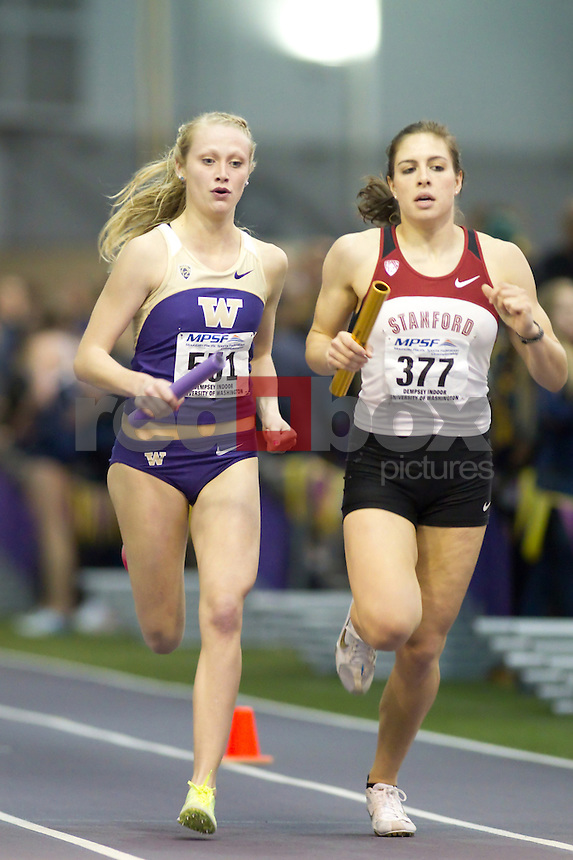 Washington hosts the Mountain Pacific Sports Federation (MPSF) Championships at the Dempsey Indoor Friday February 24, 2012 on the University of Washington campus in Seattle, Wash.  (Photo by Red Box Pictures) Baylee Mires