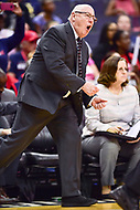 Washington, DC - August 17, 2018: Washington Mystics head coach Mike Thibault on the sideline during game between the Washington Mystics and Los Angeles Sparks at the Capital One Arena in Washington, DC. (Photo by Phil Peters/Media Images International)