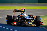 MELBOURNE, 27 MARCH - Vitaly Petrov (Russia) driving the Lotus Renault GP car (10) at the 2011 Formula One Australian Grand Prix at the Albert Park Circuit, Melbourne, Australia. (Photo Sydney Low / syd-low.com)