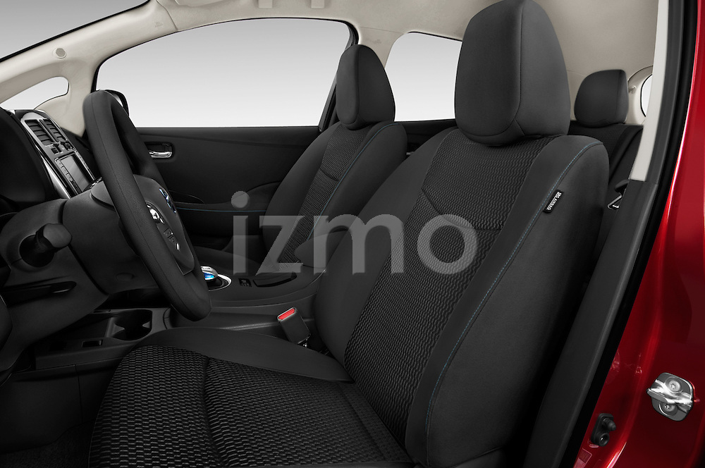 Front seat view of 2017 Nissan LEAF S 5 Door Hatchback Front Seat  car photos
