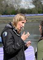 Putney/Mortlake, GREATER LONDON. United Kingdom. 2017 Women's and Men's University Boat Races, held over, The Championship Course, Putney to Mortlake on the River Thames., Umpire. Sarah WINCKLESS.<br /> <br /> Sunday  02/04/2017, <br /> <br /> [Mandatory Credit; Intersport Images]