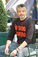 "MANUEL HUERGA.Photocall for the film ""Salvador (Puig Antich)"" in Rome, Italy..April 12th, 2007.half length black top beard facial hair sitting .CAP/CAV.©Luca Cavallari/Capital Pictures"