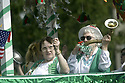Parade ladies on a float at Whaling Days, Silverdale, WA Kitsap County community event. Stock photography by Olympic Photo Group