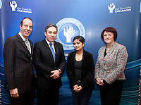"*** NO FEE PIC***.16/12/2011.(L to R).Anthony RomeroExecutive Director American Civil Liberties Union (ACLU),.Mark Kelly Director Irish Council for Civil Liberties (ICCL),.Shami Chakrabarti Director Liberty,.Dr Joanna McMinn Chair Equality & Rights Allaince (ERA).during the ""The Future of Human Rights Global Techniques Securing Local Impact"" international seminar at The Westbury Hotel, Dublin..Photo: Gareth Chaney Collins"