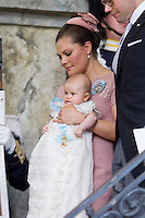The royal christening of Crown Princess Victoria and Prince Daniel s daughter Princess Estelle Silvia Ewa Mary of Sweden, in the Royal Chapel in Stockholm, May 22, 2012.   . Photo: David Sica Code: 1002. COPYRIGHT STELLA PICTURES.Credit: Stella Pictures/face to face.- Germany, Austria, Switzerland and USA rights only - / Mediapunchinc