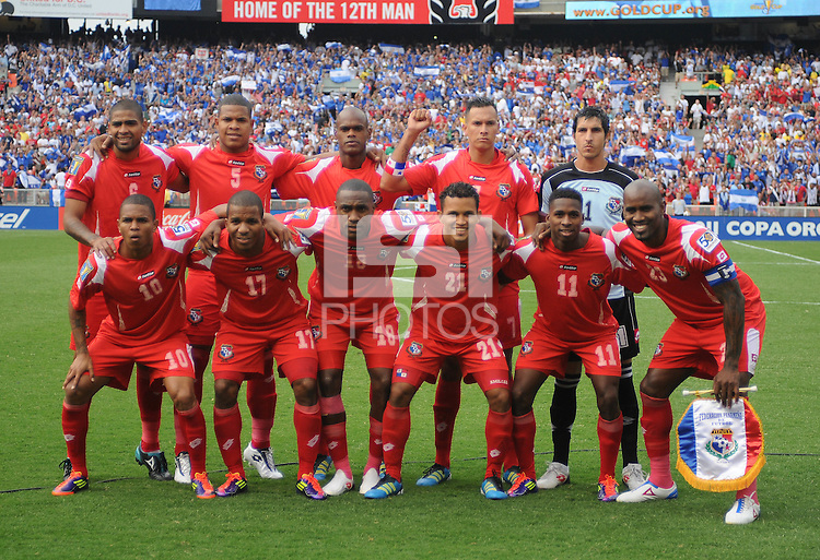 Panama Team Photo.   Team Photo.  Panama defeated El Salvador in penalty kicks 5-3 in the quaterfinals for the 2011 CONCACAF Gold Cup , at RFK Stadium, Sunday June 19, 2011.