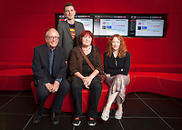 ***NO FEE PIC ***<br /> 05/06/2013 <br /> (L to R)   Jury Member John Kelleher Former Director IFCO, Jury Member Nicky Phelan<br /> Director of No Enemies Trish McAdam who was nominated for her film &amp; Jury Member Kirsten Sheridan  during  the shortlist for the 5th annual Irish Council for Civil Liberties Human Rights Film awards at  the IFCO in Smith field, Dublin.<br /> Photo:  Gareth Chaney Collins