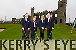 Tim Joe Griffin Captain of Ballyheigue Castle golf club, Eilish Delaney Dalton Lady Captain of Ballyheigue Castle golf club, Eileen Cantillon  Lady Captain and John Slattery President  at the Ballyheigue Golf club Drive In Competition on Sunday