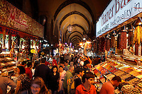 Spice Bazaar or Egyptian Market (Misir Carsisi), 1664, Koca Kasim Aga, Istanbul, Turkey. It is part of the New Mosque complex and is the second-oldest covered shopping area after the Grand Bazaar in the city. Picture by Manuel Cohen.