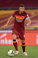 Edin Dzeko of AS Roma in action during the Serie A football match between AS Roma and ACF Fiorentina at stadio Olimpico in Roma (Italy), July 26th, 2020. Play resumes behind closed doors following the outbreak of the coronavirus disease. <br /> Photo Antonietta Baldassarre / Insidefoto