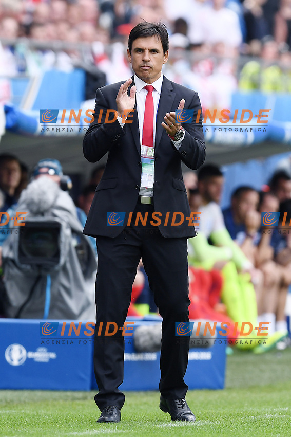 Chris Coleman Wales <br /> Lens 16-06-2016 Stade Bollaert-Delelis Footballl Euro2016 England - Wales / Inghilterra - Galles Group Stage Group B. Foto Matteo Gribaudi / Image Sport / Insidefoto