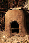 Bread oven in Iron Age museum, Andover, Hampshire, England, UK