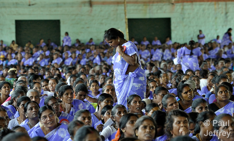 Participants in a rally celebrating International Women's Day in Madurai, a city in Tamil Nadu state in southern India.