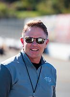 Nov 17, 2019; Pomona, CA, USA; NHRA president Glenn Cromwell during the Auto Club Finals at Auto Club Raceway at Pomona. Mandatory Credit: Mark J. Rebilas-USA TODAY Sports