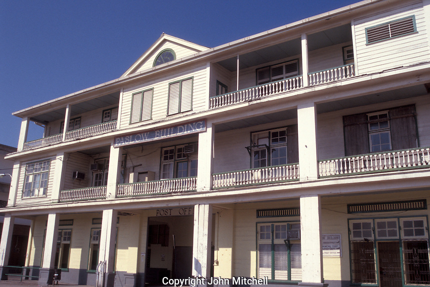 The Paslow Building in downtown Belize City, Belize