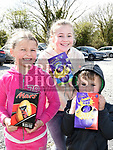 Robyn, Zane and Alexandria Boyle at the East Meath United Easter Egg hunt. Photo:Colin Bell/pressphotos.ie