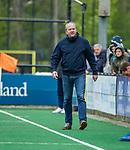 BLOEMENDAAL - coach Michel van den Heuvel (Bldaal)  tijdens de hoofdklasse competitiewedstrijd hockey heren,  Bloemendaal-Den Bosch (2-1) COPYRIGHT KOEN SUYK