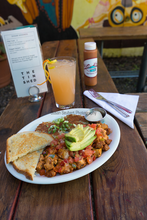 """The vegan dish, """"How Latin,"""" at the Tin Shed, a restaurant in Portland, Oregon"""
