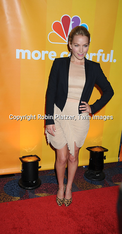 """Becki Newton of """" Love Bites""""  posing for photographers at the NBC Universal's Upfront presentation of the 2010-2011 Season on May 17, 2010 at The New York Hilton Hotel in New York City."""