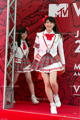 (L to R) Miho Akiyama and Kanna Hashimoto (Rev. from DVL), June 14, 2014 : MTV VMAJ (Video Music Awards Japan 2014 at Maihama Amphitheater in Chiba, Japan. (Photo by Rodrigo Reyes Marin/AFLO)