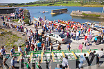 Great crowds at the Ladies Seine Boat Race in Cahersiveen with all money going to the 'Group 135' part of the Irish Pilgrimage Trust Fund.