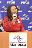 SAO PAULO, 27 DE FEVEREIRO DE 2013. - ALCKMIN HOSPITAL SAO PAULO -  Professora Soraya Smaili, Reitora da Unifesp durante anuncio do governador Geraldo Alckmin na manha desta quarta-feira, 27, da liberação de R$ 77,3 milhões ao Hospital São Paulo, hospital universitário administrado pela Unifesp (Universidade Federal de São Paulo), localizado na zona sul da capital.  (FOTO: ALEXANDRE MOREIRA / BRAZIL PHOTO PRESS)
