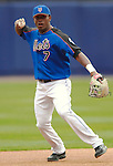 3 April 2006: Jose Reyes, infielder for the New York Mets, warms up prior to the Opening Day game against the Washington Nationals at Shea Stadium, in Flushing, New York. The Mets defeated the Nationals 3-2 to lead off the 2006 MLB season...Mandatory Photo Credit: Ed Wolfstein Photo..