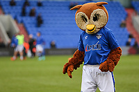"""Oldham Athletic mascot """"Chaddy the owl"""" ahead of the Sky Bet League 1 match between Oldham Athletic and Bristol Rovers at Boundary Park, Oldham, England on 30 December 2017. Photo by Juel Miah / PRiME Media Images."""