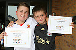 James McGinn and Kristian Sullivan with their certificates at the Moneymore After School Club Awards...Photo NEWSFILE/Jenny Matthews.(Photo credit should read Jenny Matthews/NEWSFILE)....This Picture has been sent you under the condtions enclosed by:.Newsfile Ltd..The Studio,.Millmount Abbey,.Drogheda,.Co Meath..Ireland..Tel: +353(0)41-9871240.Fax: +353(0)41-9871260.GSM: +353(0)86-2500958.email: pictures@newsfile.ie.www.newsfile.ie.FTP: 193.120.102.198.